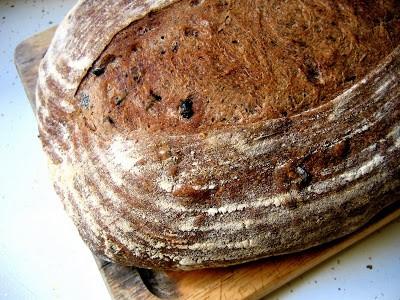 top down shot of sourdough loaf