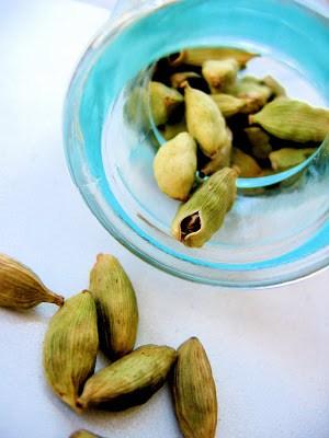 bowl of cardamom seeds