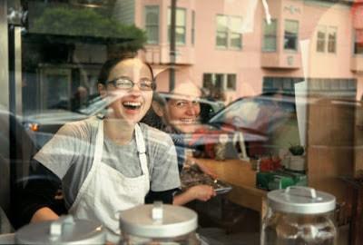 shot of bakery worker