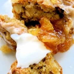 scones with sour cream and marmalade