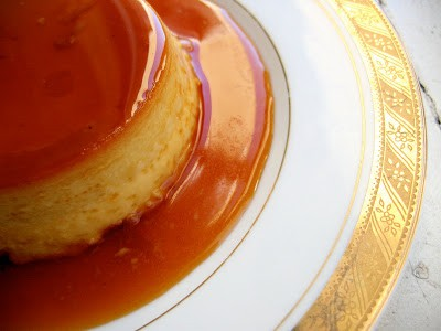 top down  of creme caramel