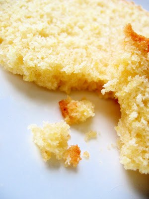 close up of slice of poundcake