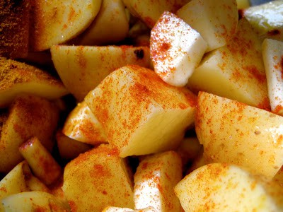 potatoes and parsnips pre oven roasting