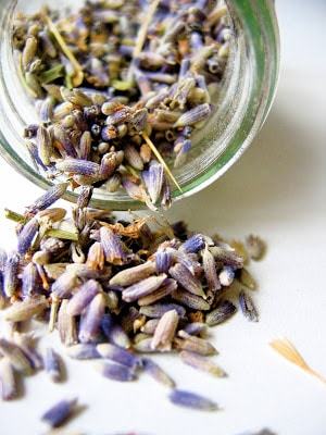lavender in a jar