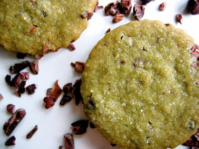 matcha wafers with chocolate chips