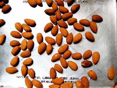 top down shot of almonds