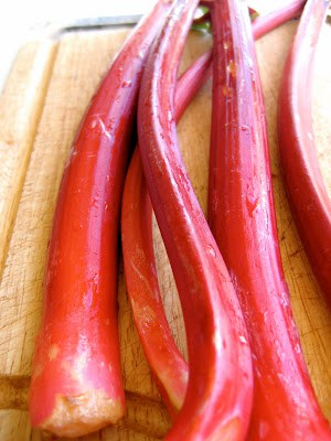 sticks of rhubarb