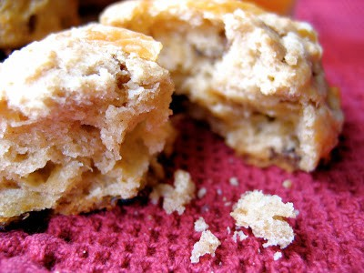 a crumbly beer scone