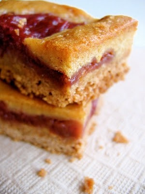 stacked rhubarb squares
