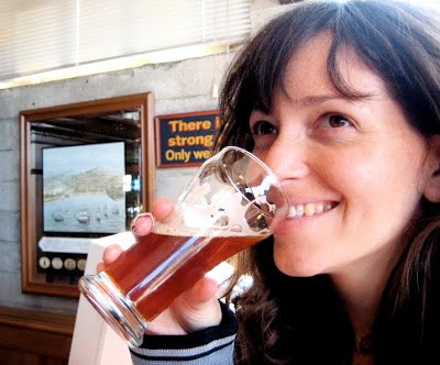 alanna enjoying a drink