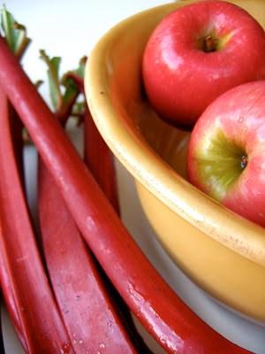 apple and rhubarb