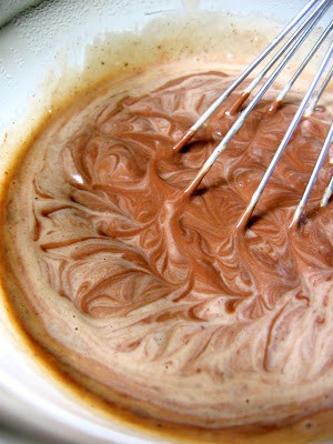 pots de creme mix being whisked