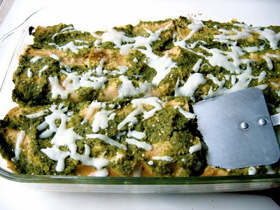 summer vegetable enchiladas in a baking tray