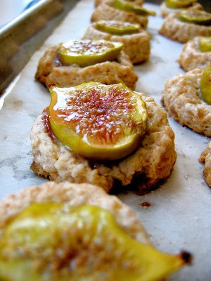 fig and ginger scones on a baking trat