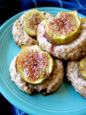 delicious fig and ginger scones on a plate