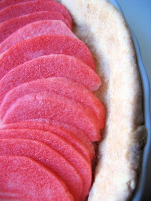 close up of sliced apples