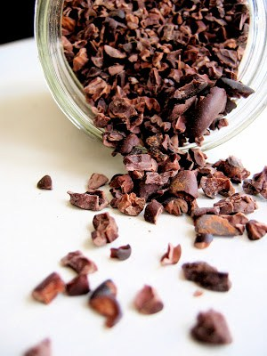 cocoa nibs out of jar
