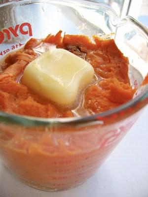 sweet potato mix in a jug
