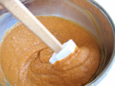 pie mix being stirred