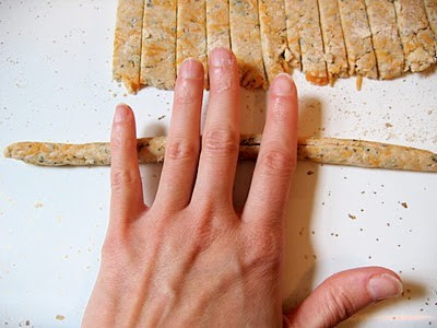 cheese sticks being rolled