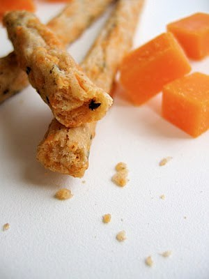 close up of cheese straws