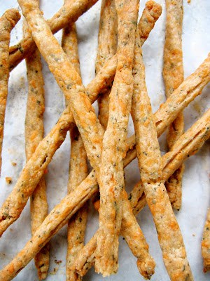 top down shot of cheese straws