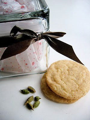 snickerdoodles next to a gift box