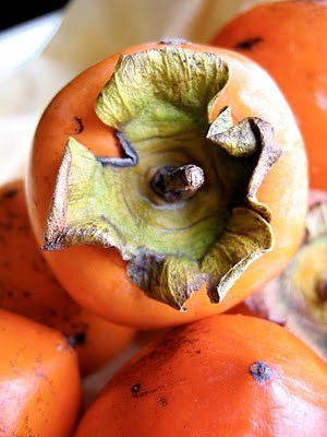 close up of persimmons