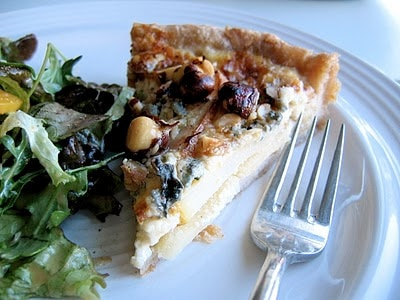 blue cheese tart on a plate