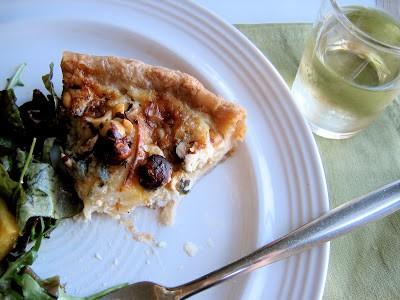 tart on plate