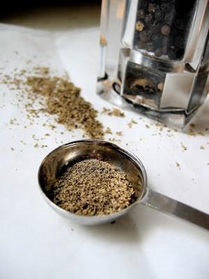scoop of black pepper