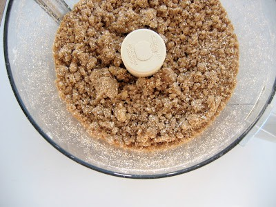crumbs in a blender