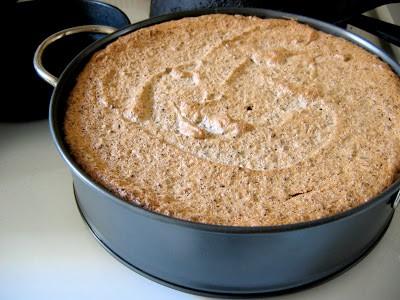 pistachio chocolate torte before baking