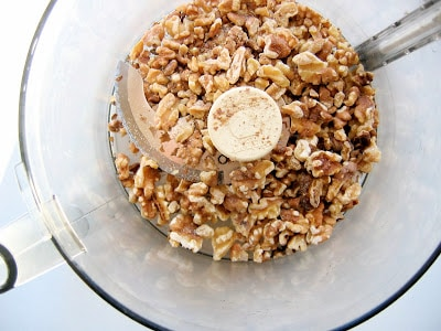 nuts in a blender