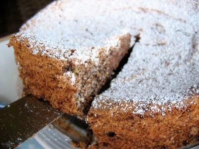 slice of torte being cut