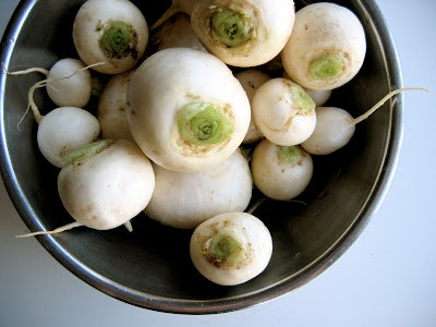 raw turnips in a bowl