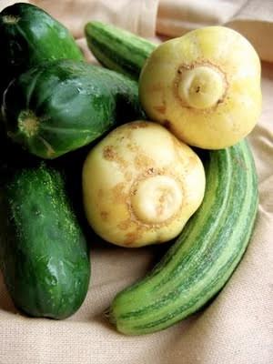 raw cucumbers