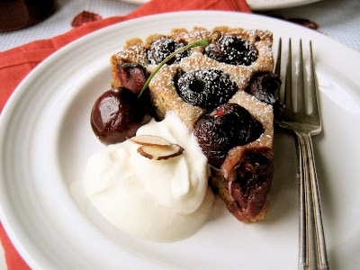 cherry tart on a plate