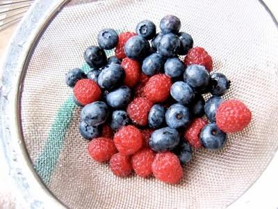 berries in a sieve