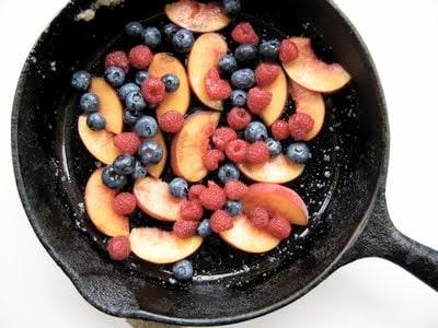 fruit in a skillet
