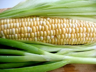 corn and scallions