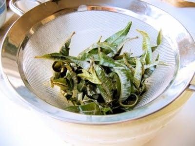 greens in a sieve