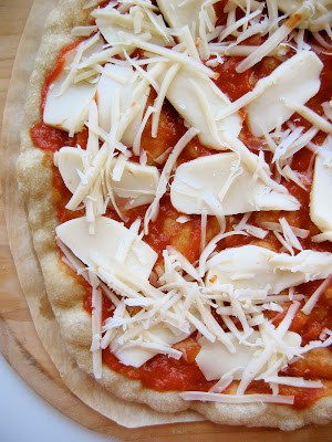 cheese on pizza pre baking