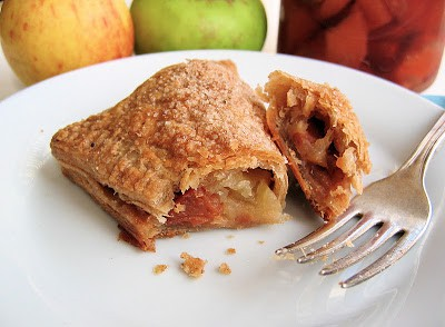 apple turnover on a plate