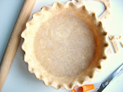 overhead shot of pie crust