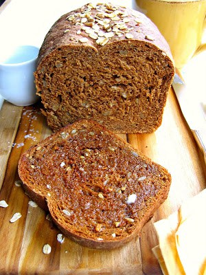 loaf of oatmeal molasses bread