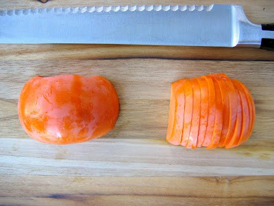 chopped persimmon