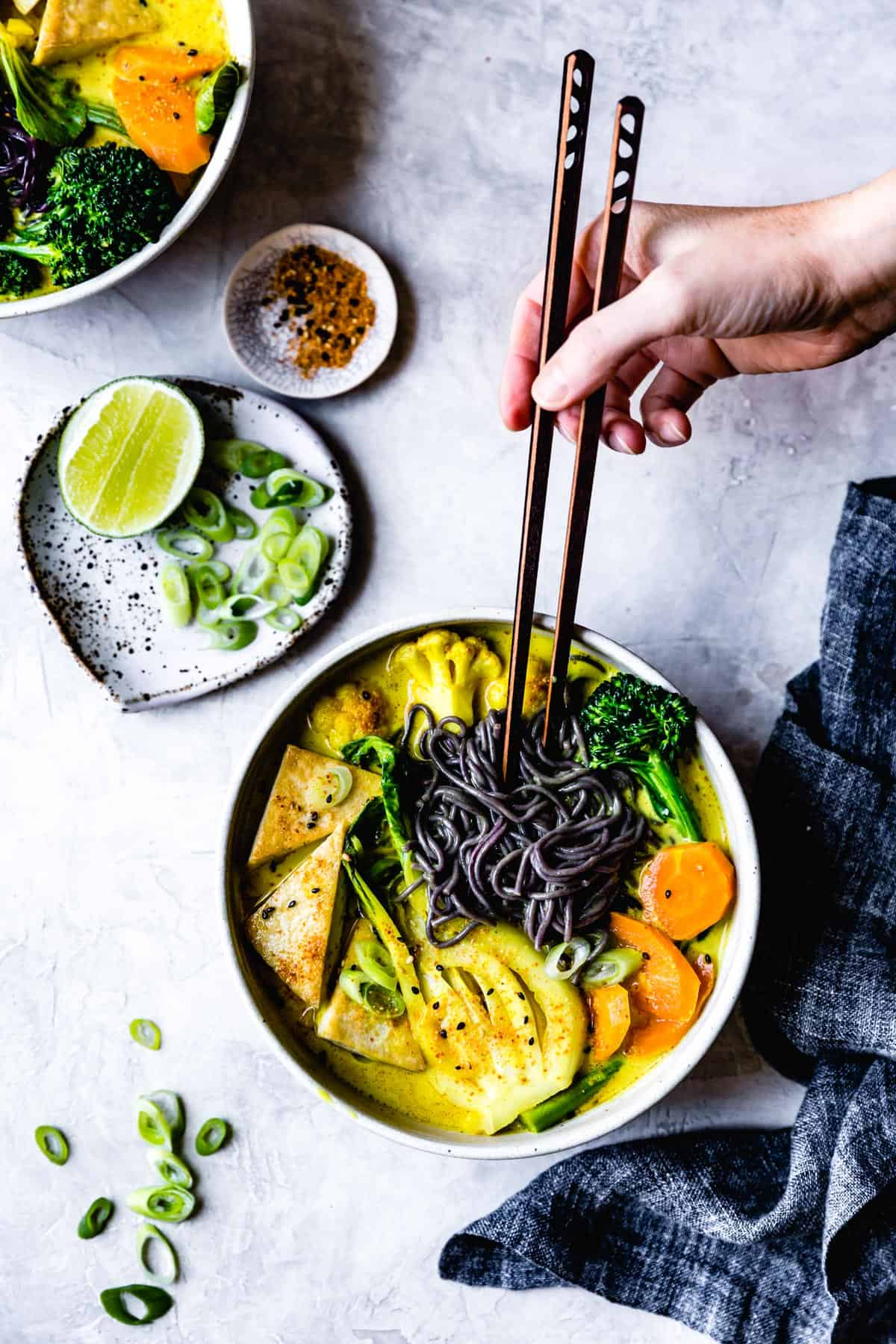 Vegan Coconut Curry Noodle Soup {gluten-free}
