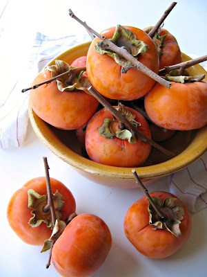 bowl of persimmon