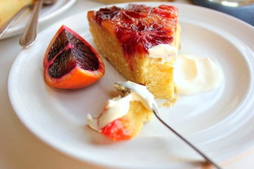 slice of upside down cake